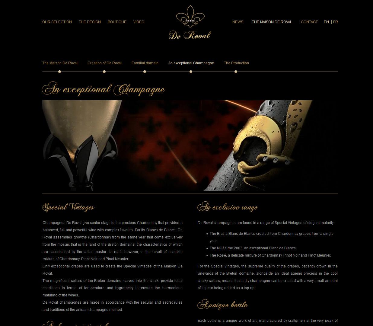 Signature de Luxe - Site web - De Roval
