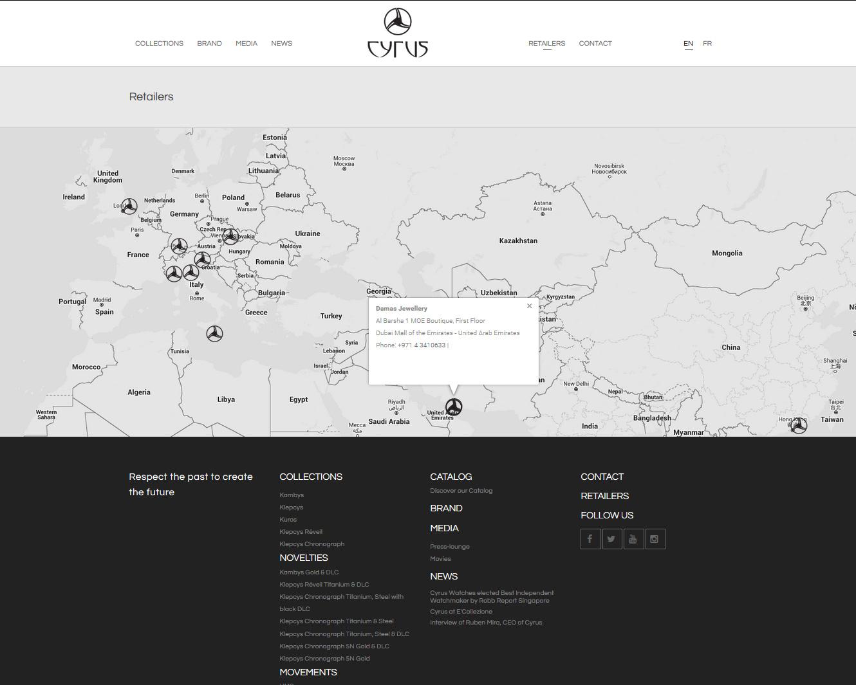 Signature de Luxe - Website - Cyrus Watches