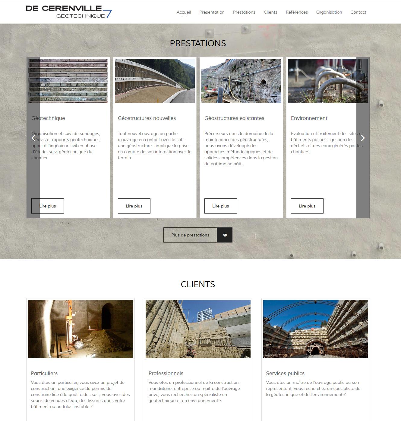 Signature de Luxe - Site web - De Cerenville Géotechnique