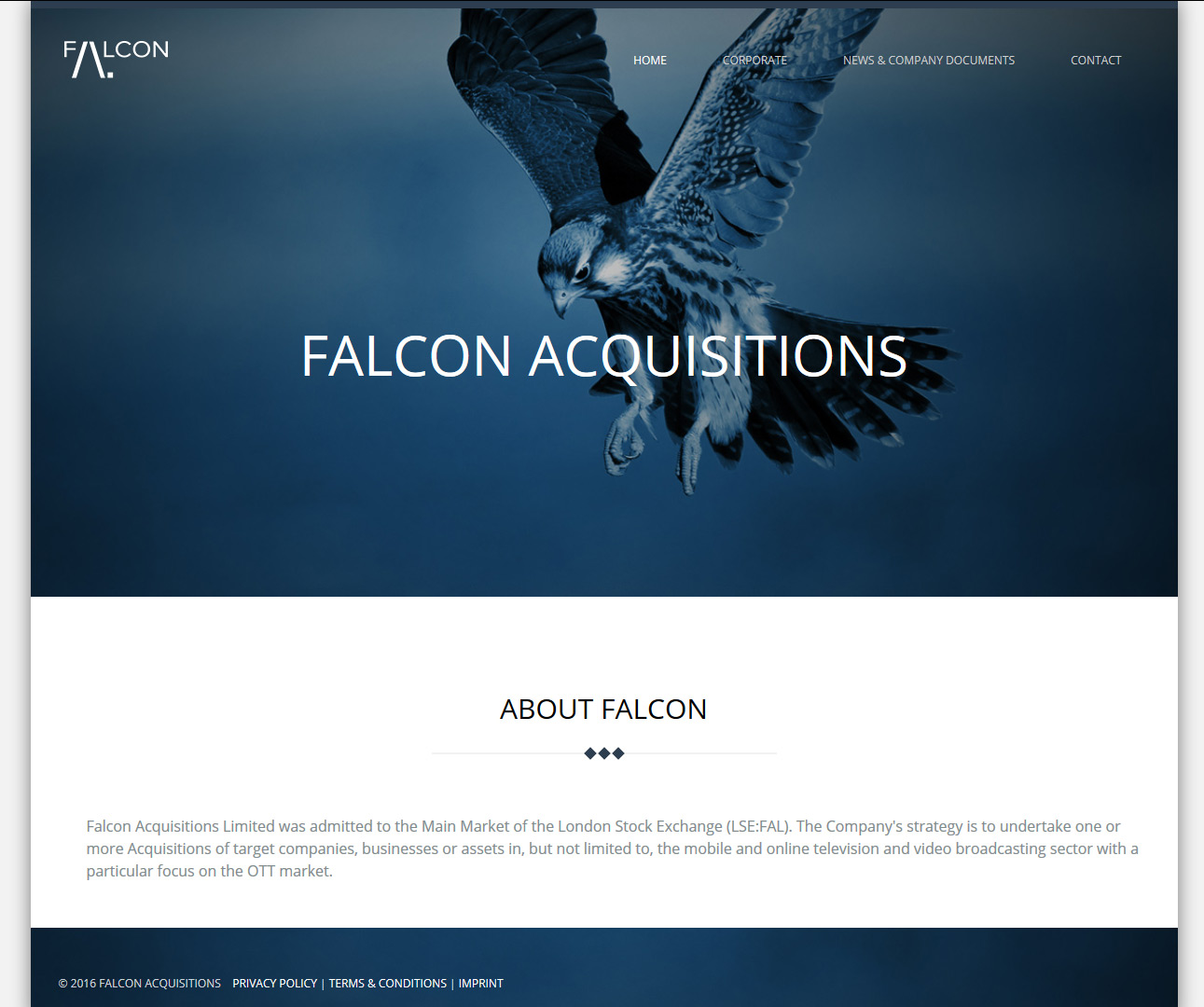 Signature de Luxe - Site web - Falcon Acquisitions