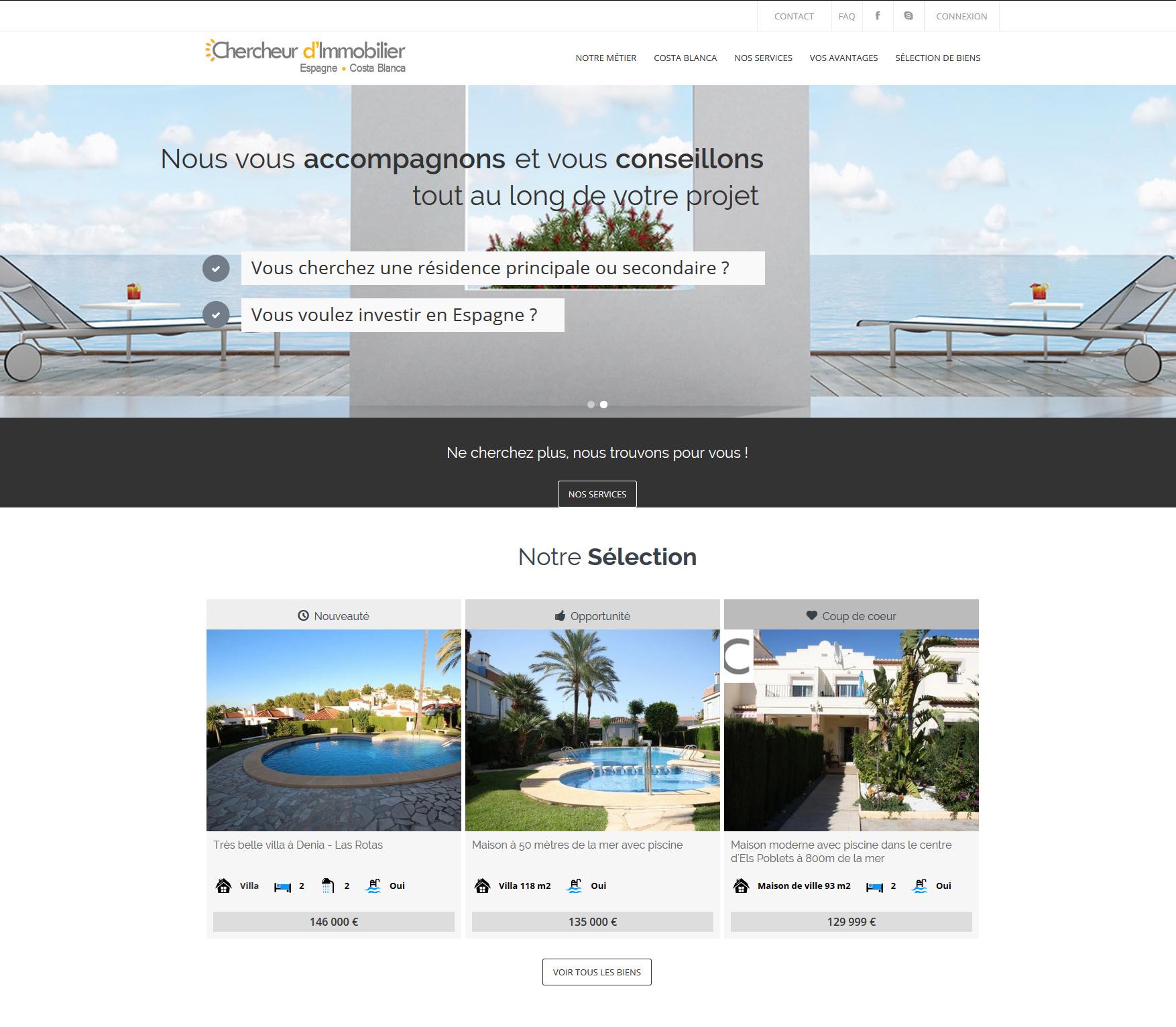 Signature de Luxe - Website - Chercheur Immobilier Espagne